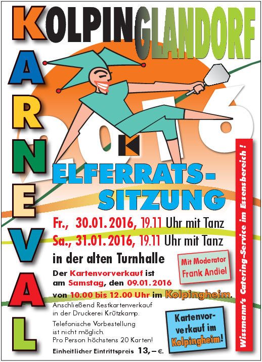 Karneval Plakat 2016